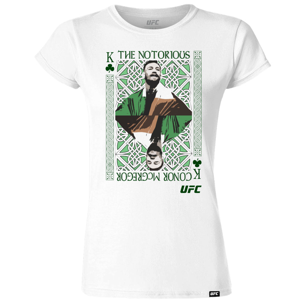 "UFC Conor ""The Notorious"" McGregor King of MMA Women's T-Shirt-White"