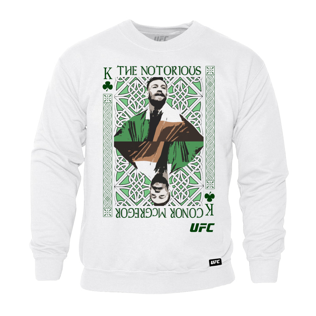 "UFC Conor ""The Notorious"" McGregor King of MMA Sweatshirt-White"