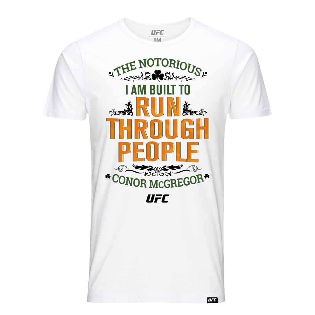 "Conor ""The Notorious"" McGregor Run Through People Kid's T-Shirt-White"