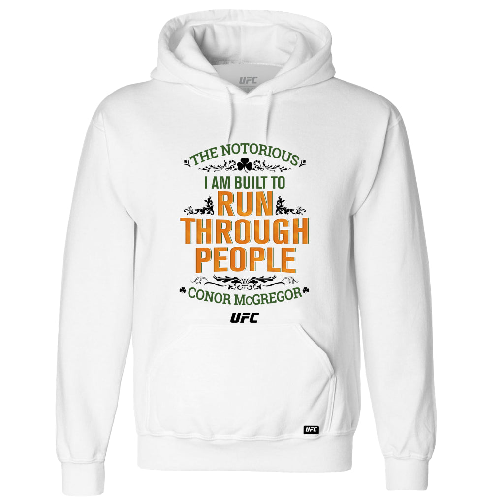 "Conor ""The Notorious"" McGregor Run Through People Hoodie-White"