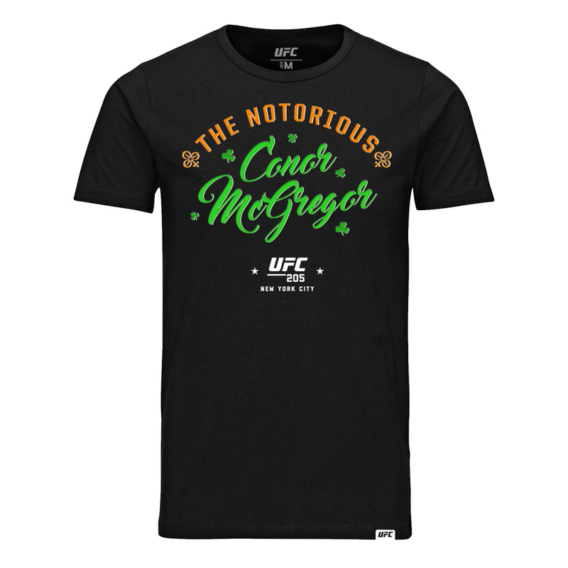 "UFC 205 Conor ""The Notorious"" McGregor Script T-Shirt-Black"