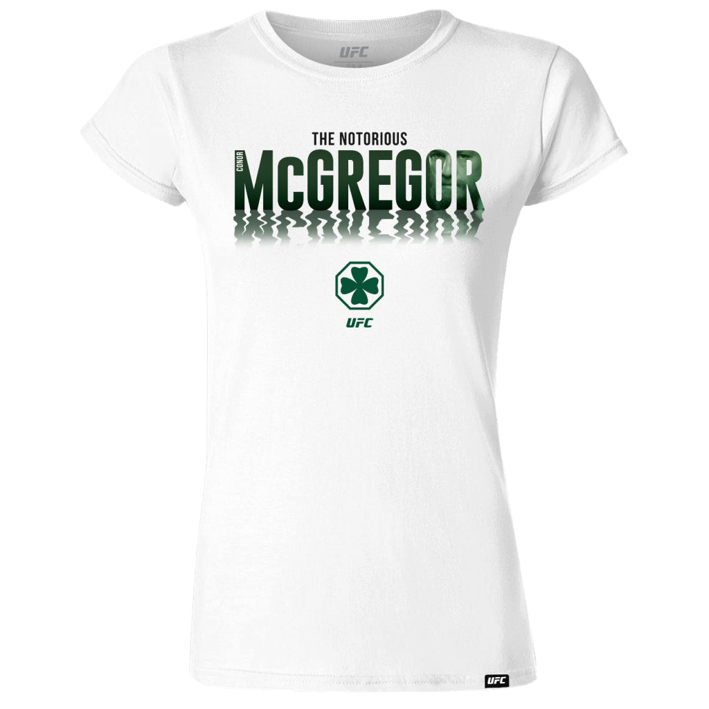Conor McGregor Shadow Face Womens T-Shirt - White