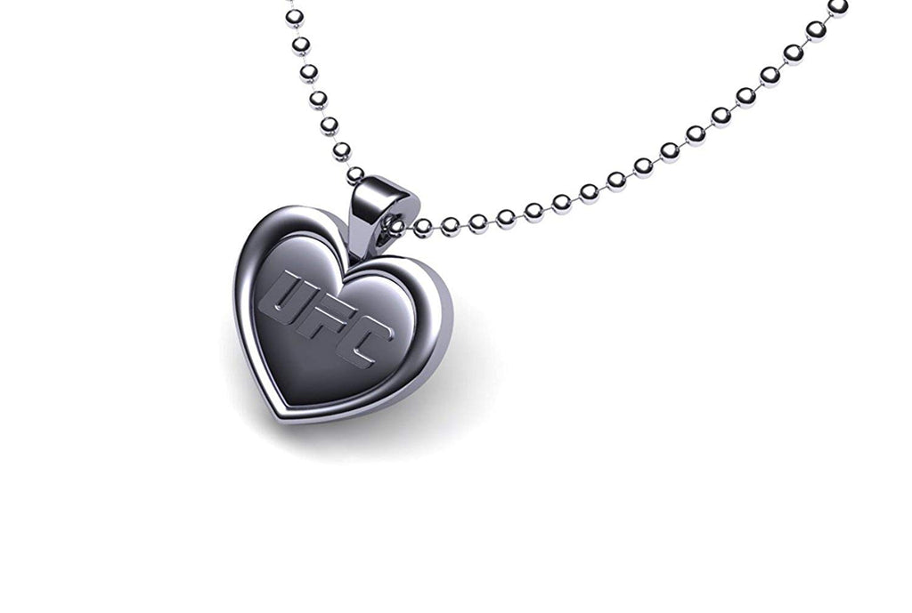 UFC UFC Pewter Heart Pendant (Silver Chain)