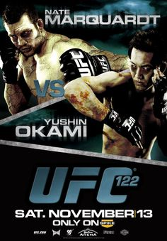 "UFC 122 Marquardt vs. Okami Autographed Event Posters 27"" x 39"" Event Poster"