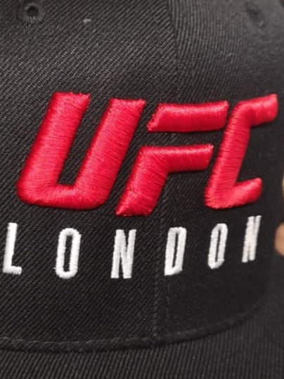 UFC Fight Night London Red Logo Embroidered Cap -Black
