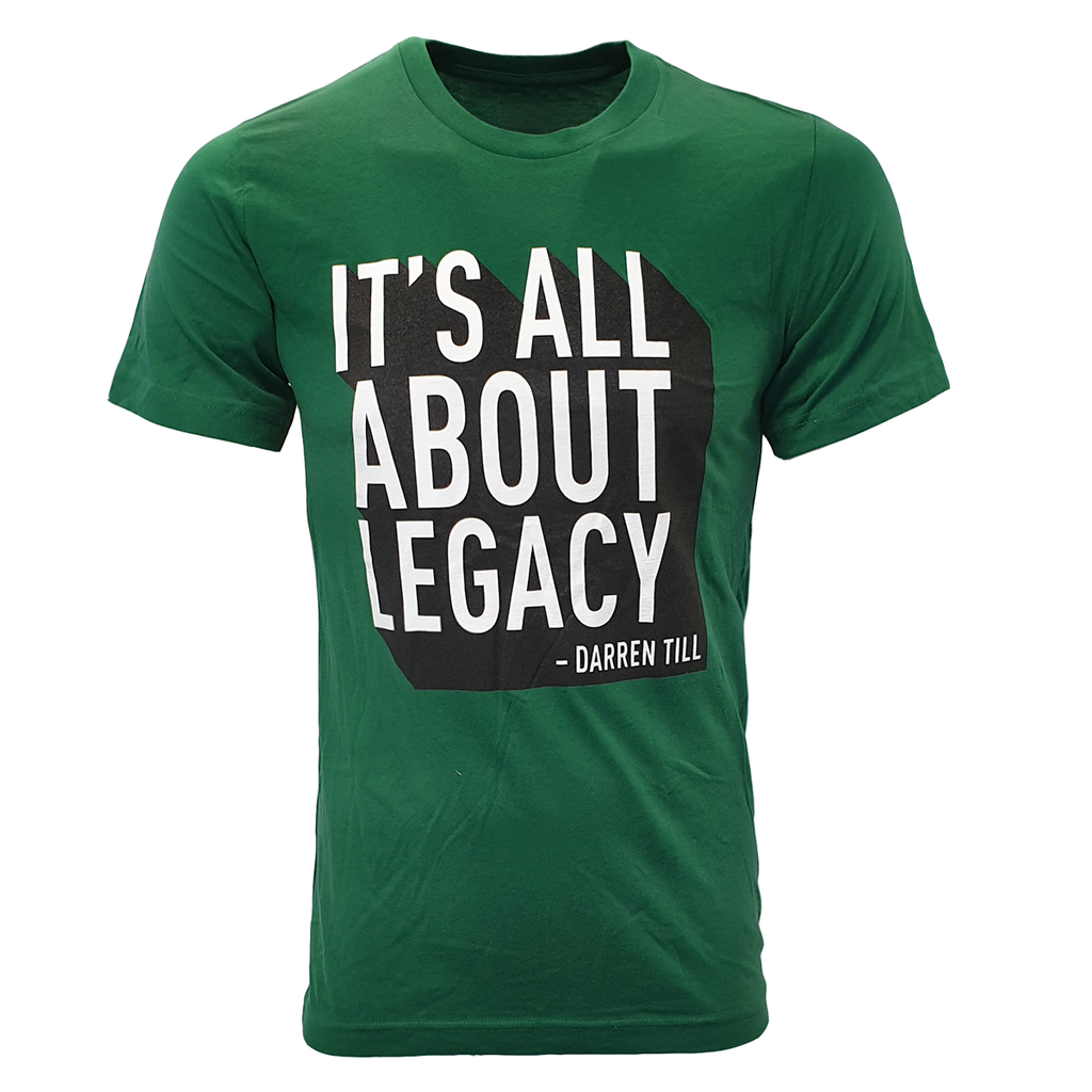 "Men's UFC Darren ""The Gorilla"" Till  ""Its all about legacy"" T-Shirt- Green"