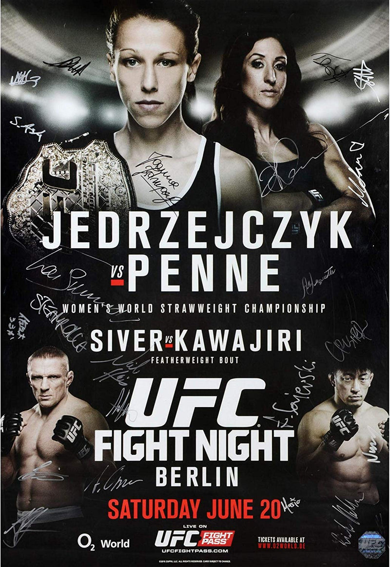 Ufc Fight Night Berlin Jedrzejczyk Vs Penne 27 X 39 Event Signed Pos Ufc Eu
