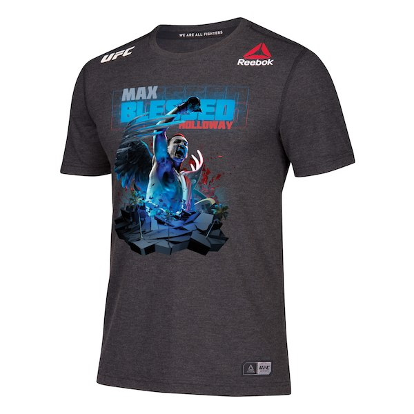 Men's Reebok Max Holloway Black UFC 240 Legacy Walkout Series Jersey