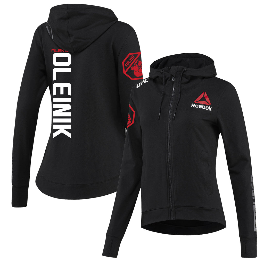 Women's Reebok Aleksei Oleinik Black UFC Fight Night Walkout Hoodie Replica