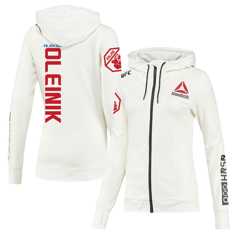 Women's Reebok Aleksei Oleinik Chalk UFC Fight Night Walkout Hoodie Replica
