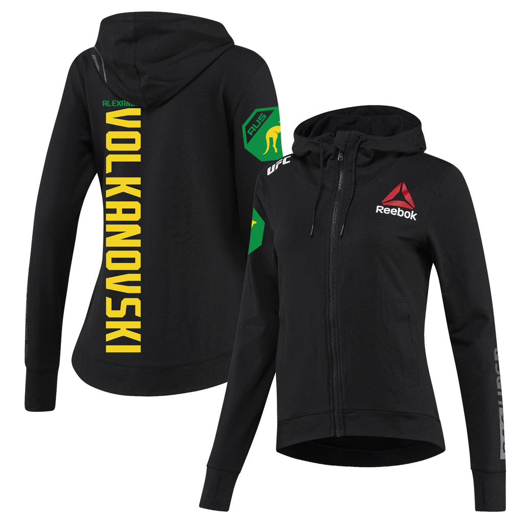 Women's Reebok Alexander Volkanovski Black UFC Fight Night Walkout Hoodie Replica