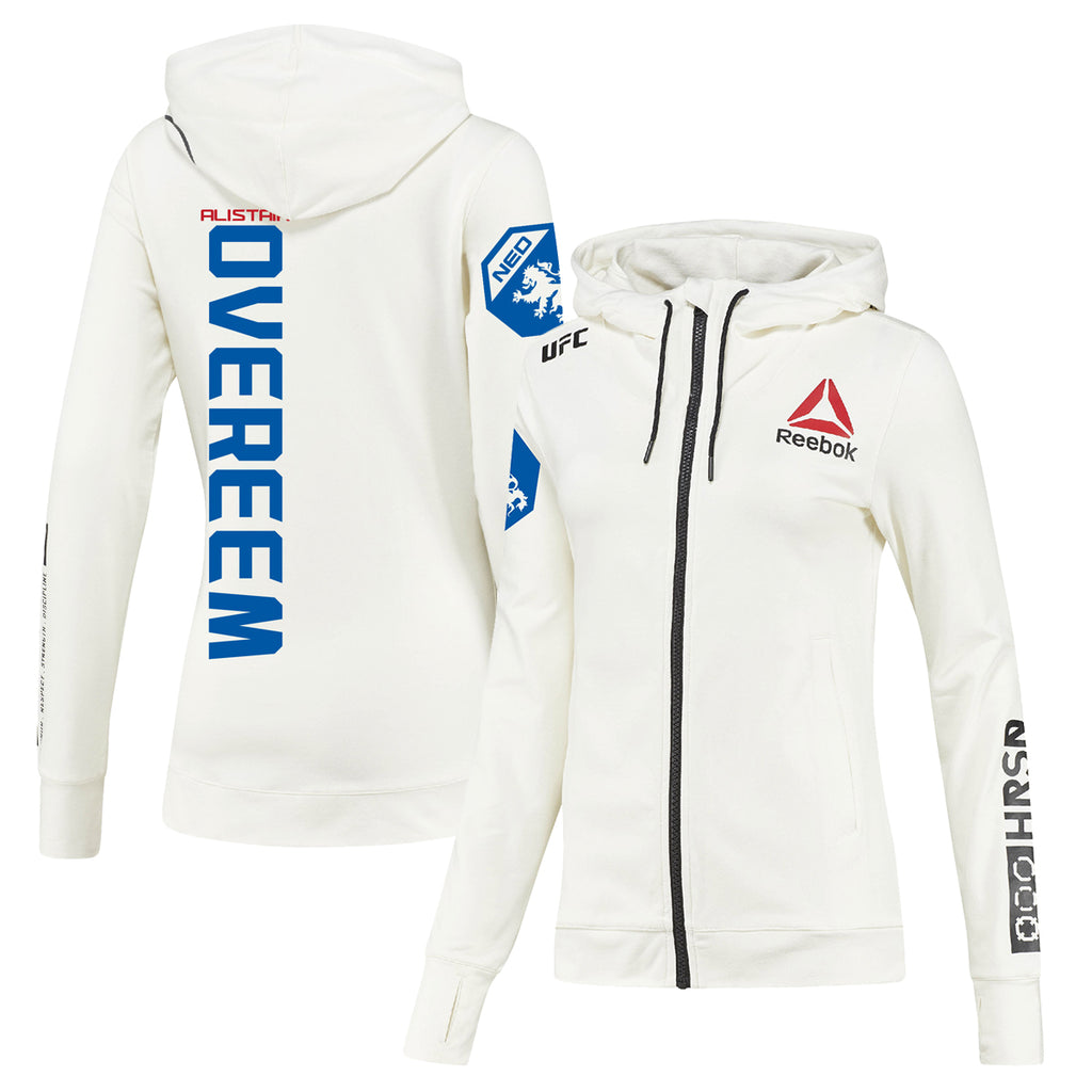 Women's Reebok Alistair Overeem Chalk UFC Fight Night Walkout Hoodie Replica