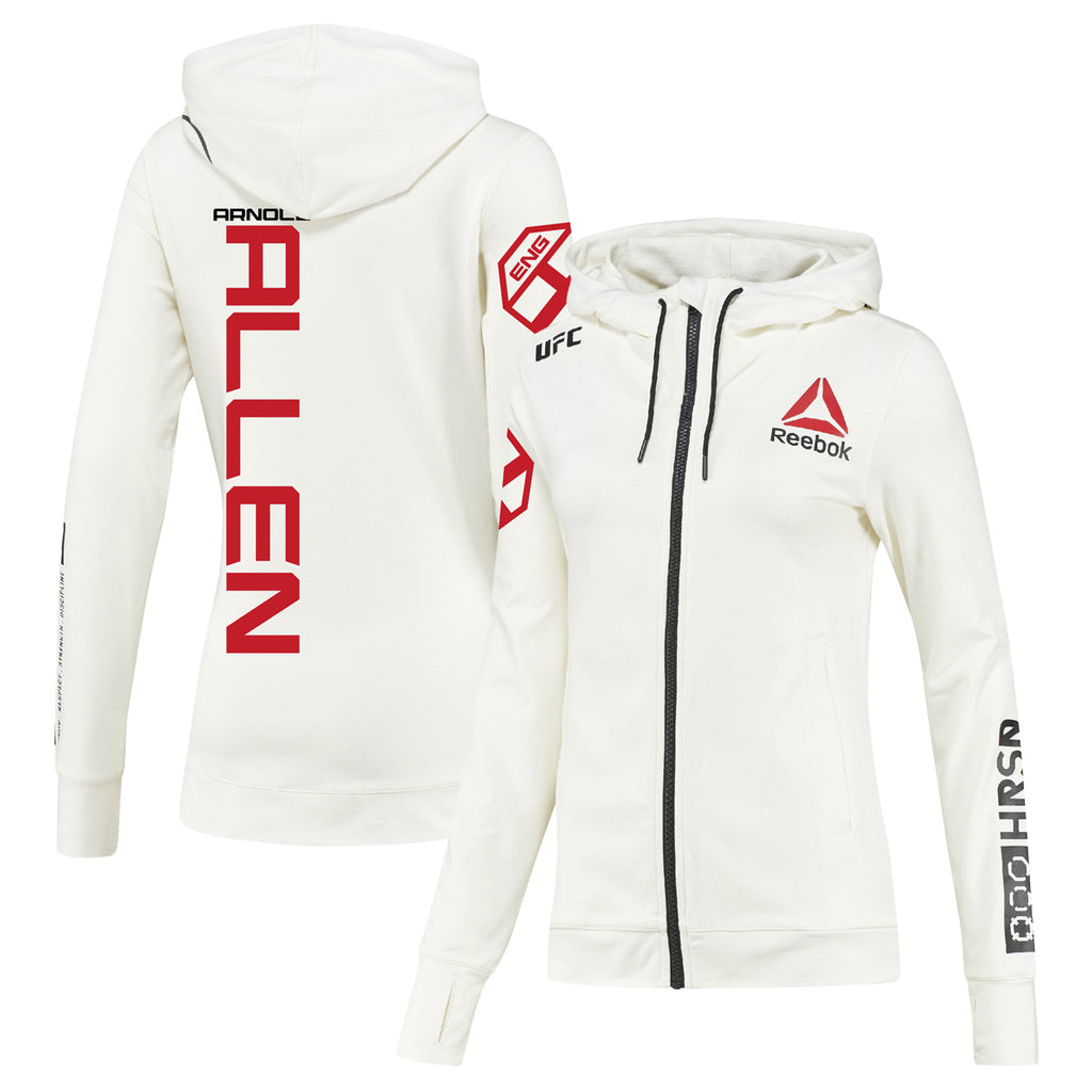 Women's Reebok Arnold Allen Chalk UFC Fight Night Walkout Hoodie Replica
