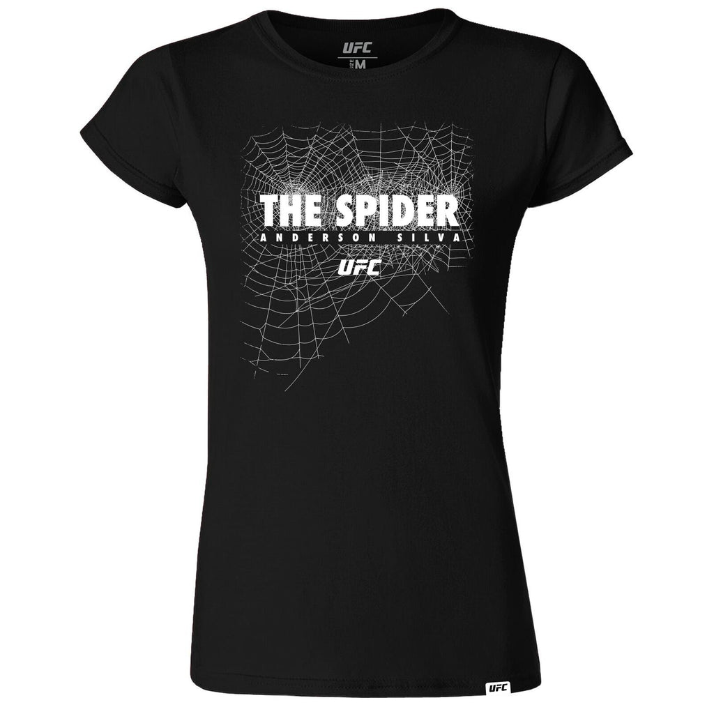 "Women's UFC Anderson ""The Spider"" Silva Graphic T-Shirt-Black"