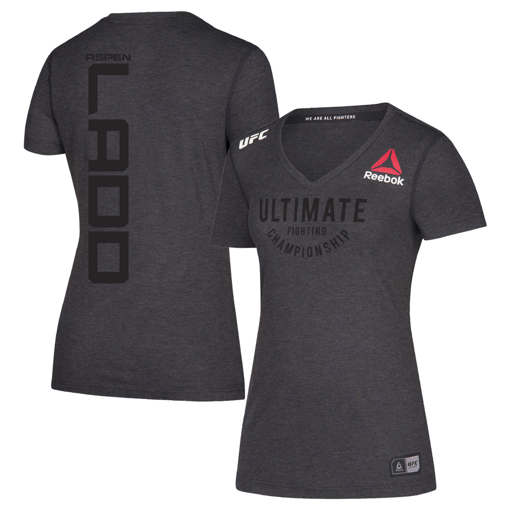 Women's Reebok Aspen Ladd Black Authentic UFC Fight Night Walkout Jersey