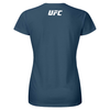 UFC Classic White Logo Womens T-Shirt -Airforce Blue