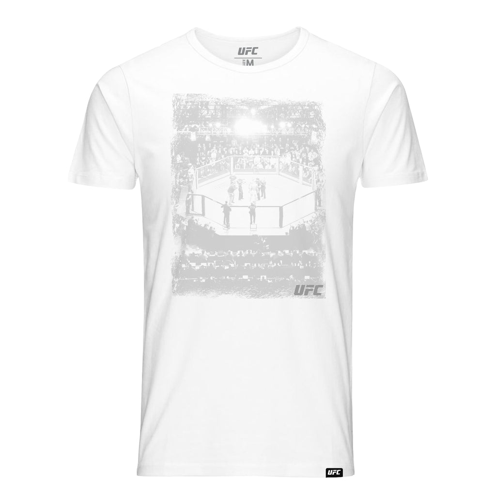 UFC Arena distressed Graphic T-Shirt-White