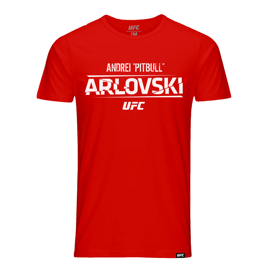 "UFC Andrei ""Pitbull"" Arlovski Graphic T-Shirt-Red"