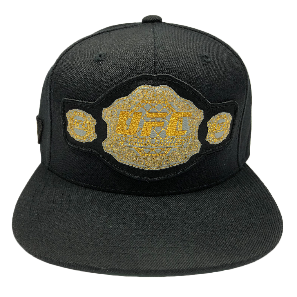 UFC Championship Belt Embroidered Snapback Cap -Black
