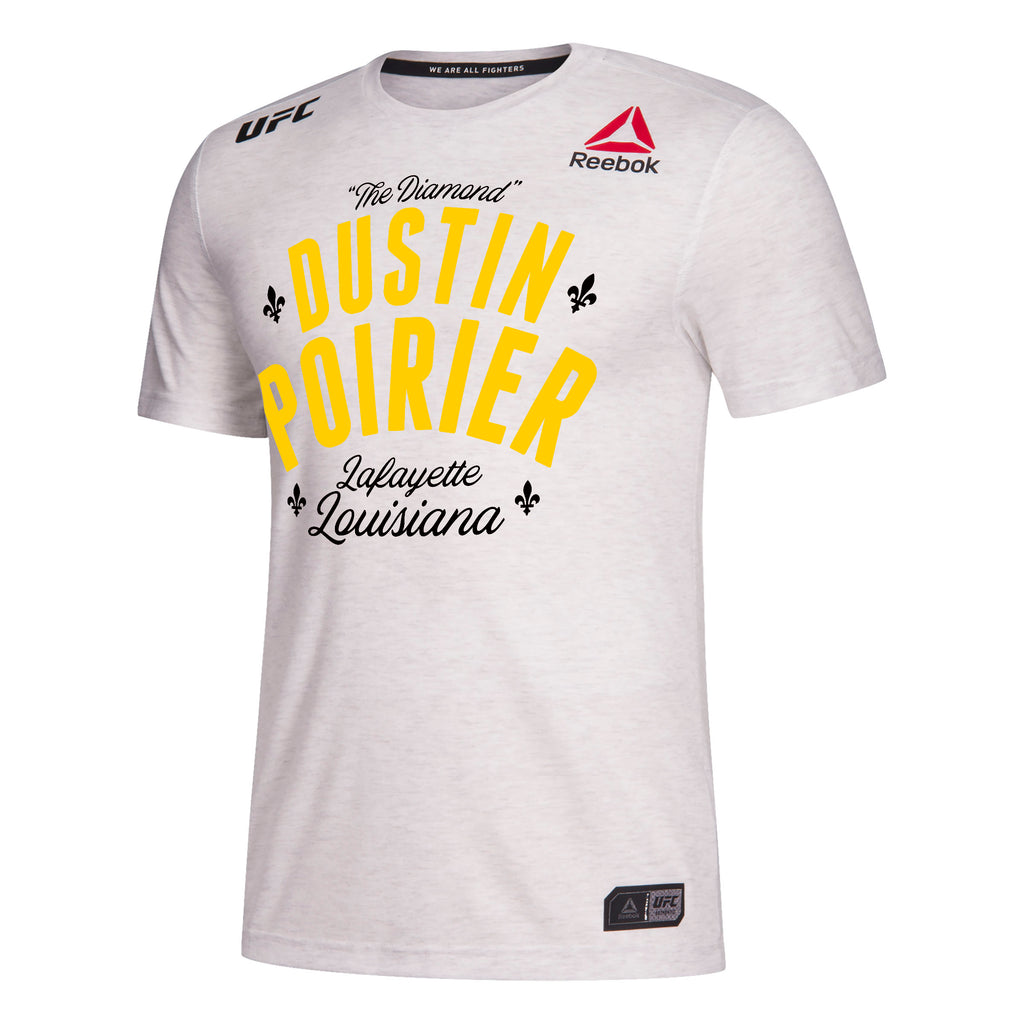 Men's Reebok Dustin Poirier Chalk UFC 236 Legacy Walkout Series Jersey