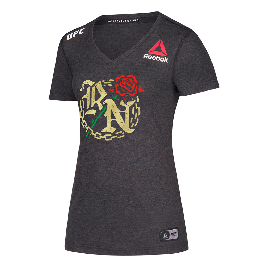 Women's Reebok Rose Namjunas Black UFC 237 Legacy Walkout Series Jersey