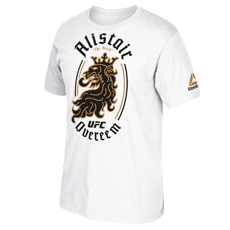 Men's Reebok Alistair Overeem UFC White Lion Legacy Walkout Series Jersey
