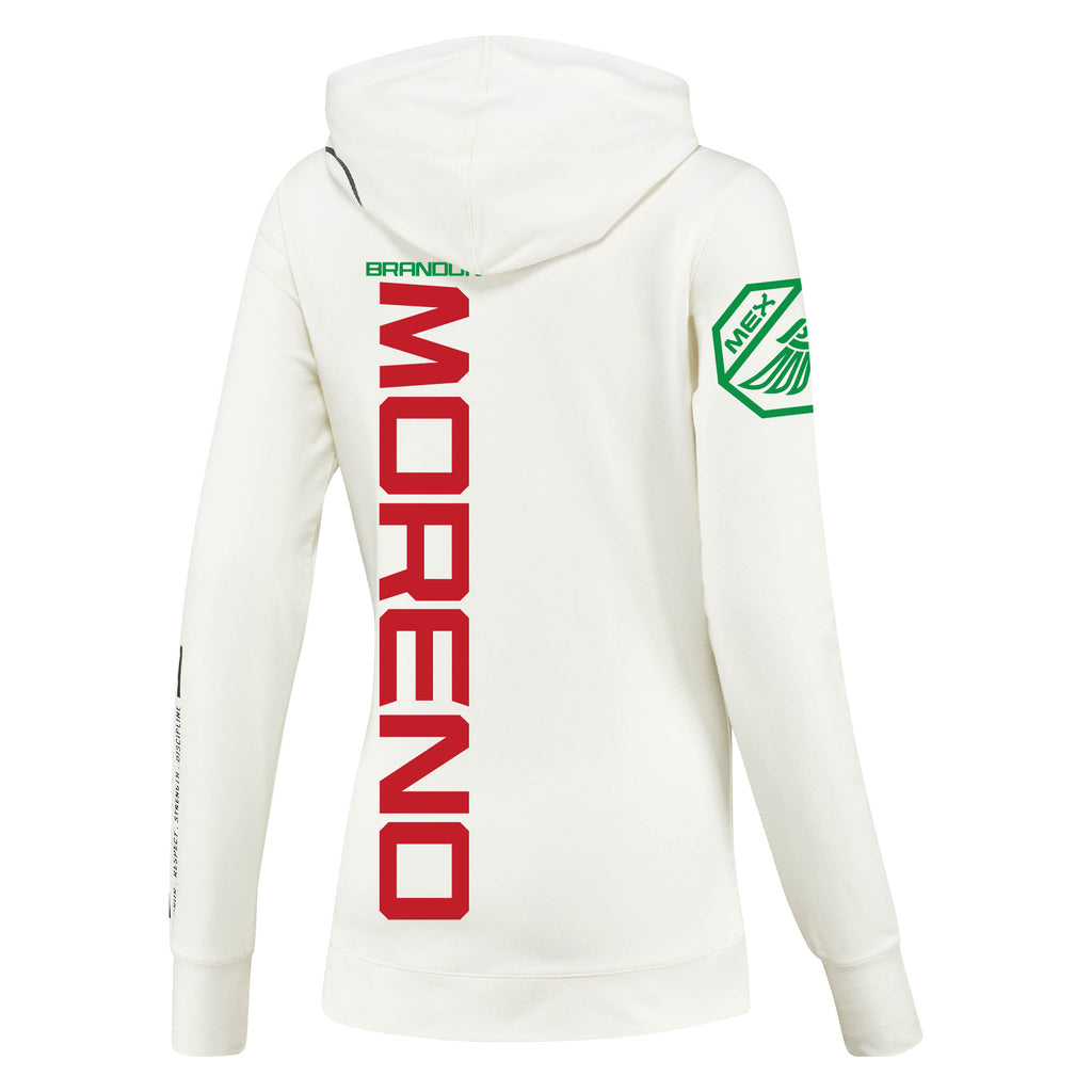 Women's Reebok Brandon Moreno Chalk UFC Fight Night Walkout Hoodie Replica