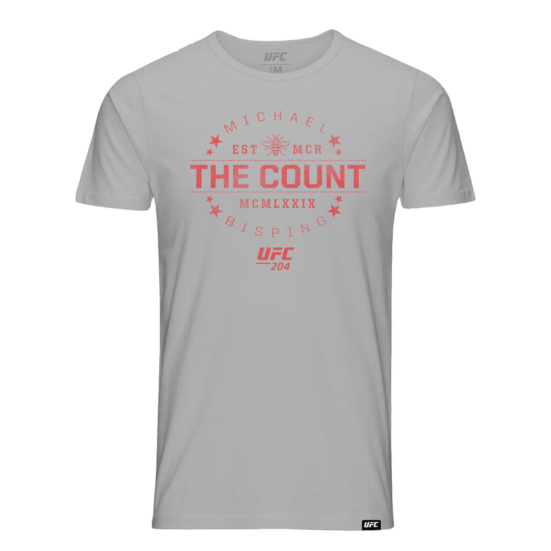 "UFC Michael ""The Count"" Bisping MCMLXXIX T-Shirt- Grey"
