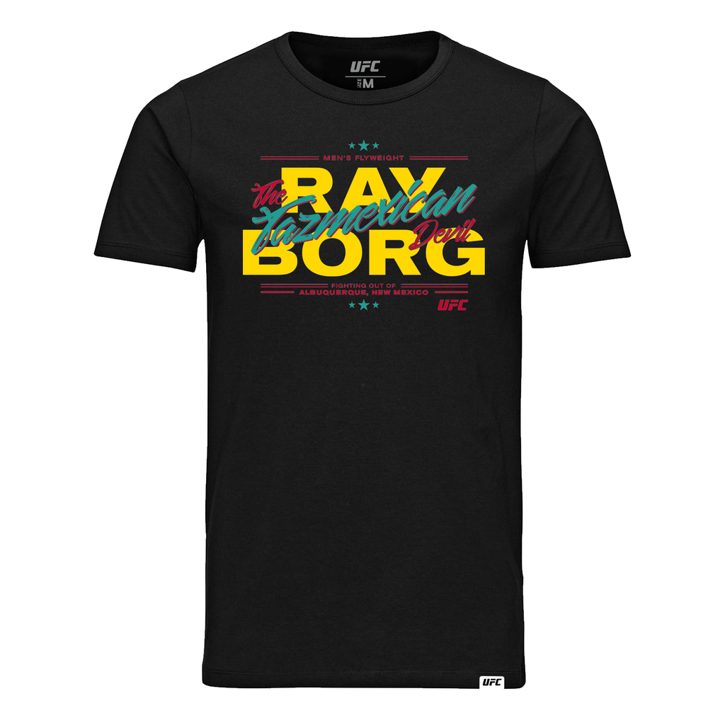 "UFC Ray ""The Tazmexican Devil"" Borg Graphic T-Shirt-Black"