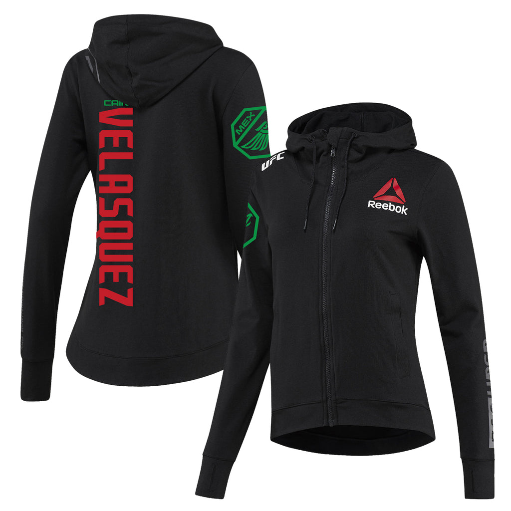 Women's Reebok Cain Velasquez Black UFC Fight Night Walkout Hoodie Replica