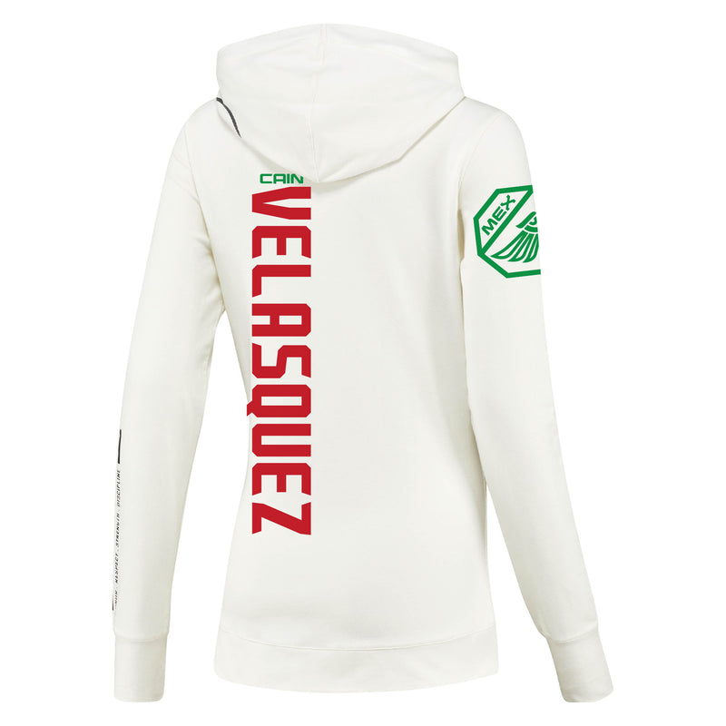 Women's Reebok Cain Velasquez Chalk UFC Fight Night Walkout Hoodie Replica