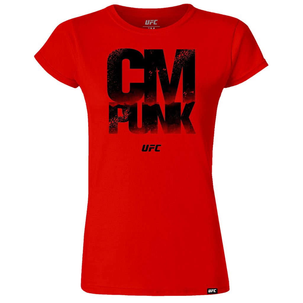 UFC CM Punk Quote Womens T-Shirt -Red