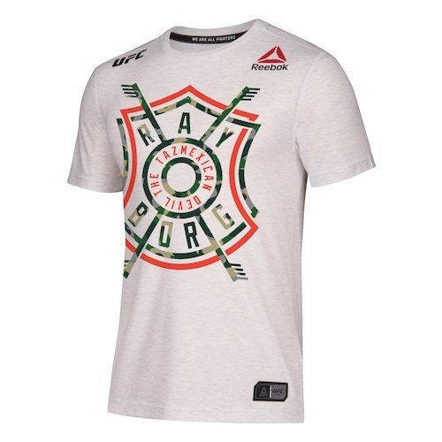 Men's Reebok Ray Borg White UFC 216 Legacy Walkout Series Jersey