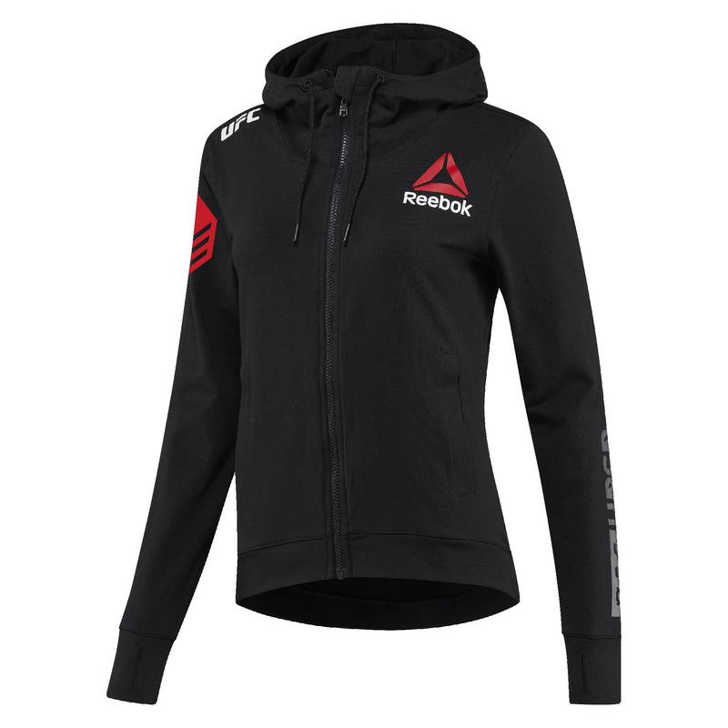 Women's Reebok Cynthia Calvillo Black UFC Fight Night Walkout Hoodie Replica