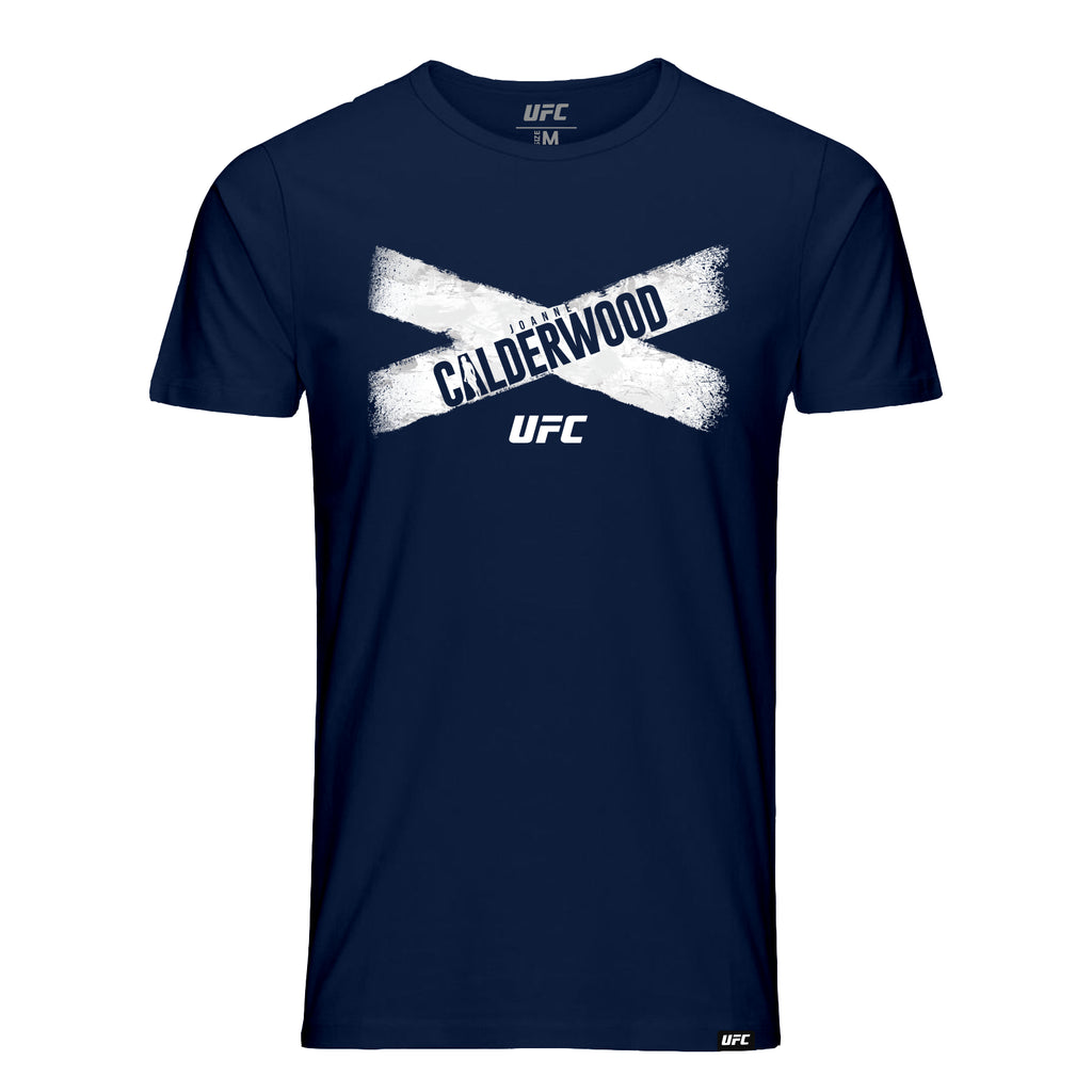UFC Joanne Calderwood Flag Graphic T-Shirt - Navy