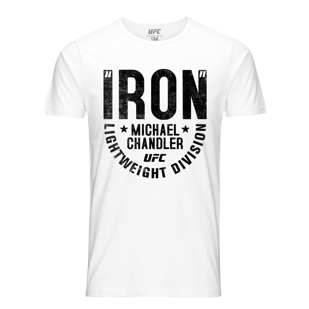 "Men's UFC Michael ""Iron"" Chandler Graphic T-Shirt -White"