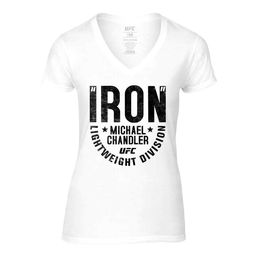 "Women's UFC Michael ""Iron"" Chandler Graphic T-Shirt -White"
