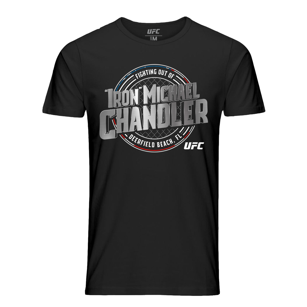 "Men's UFC Michael ""Iron"" Chandler Crest T-Shirt -Black"
