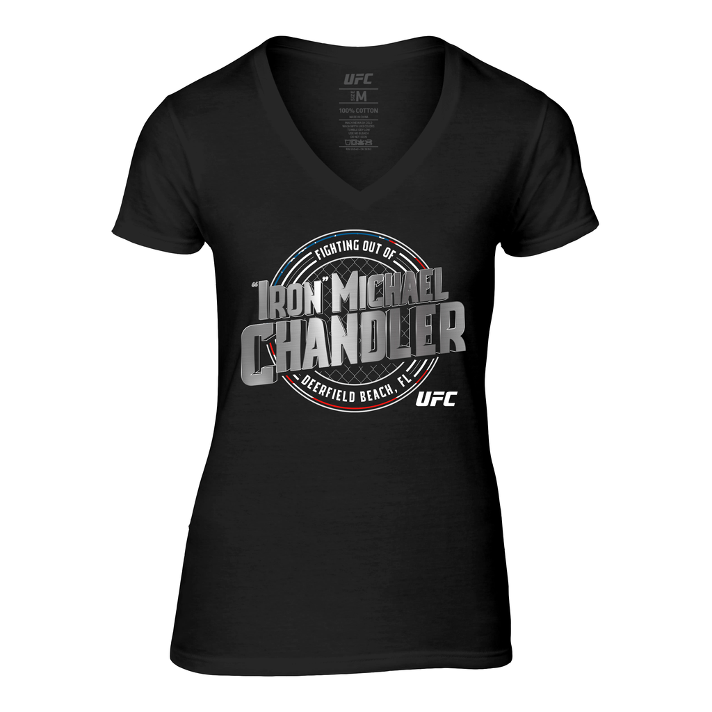 "Women's UFC Michael ""Iron"" Chandler Crest T-Shirt -Black"