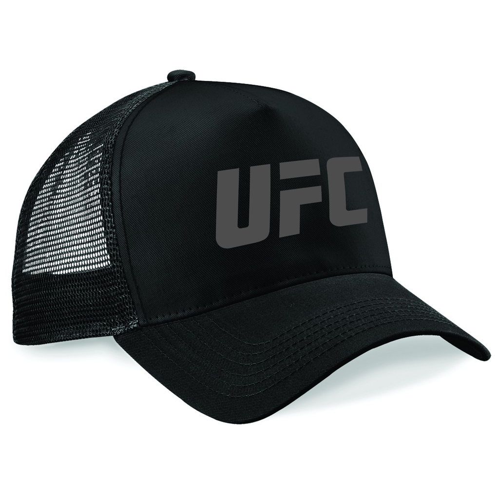 3b31b59d5ca UFC Embroidered Trucker Cap Large Logo Black – UFC.EU
