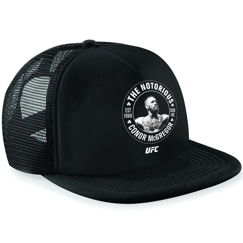 "UFC Printed Snapback Cap Conor ""The Notorious"" McGregor EST 1988 Crest"