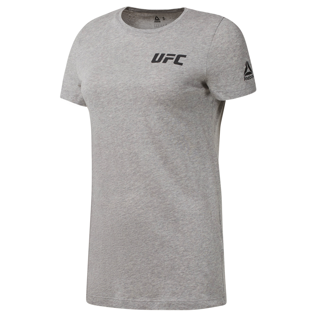 Women's Reebok UFC Fan Gear Logo Tee- Grey