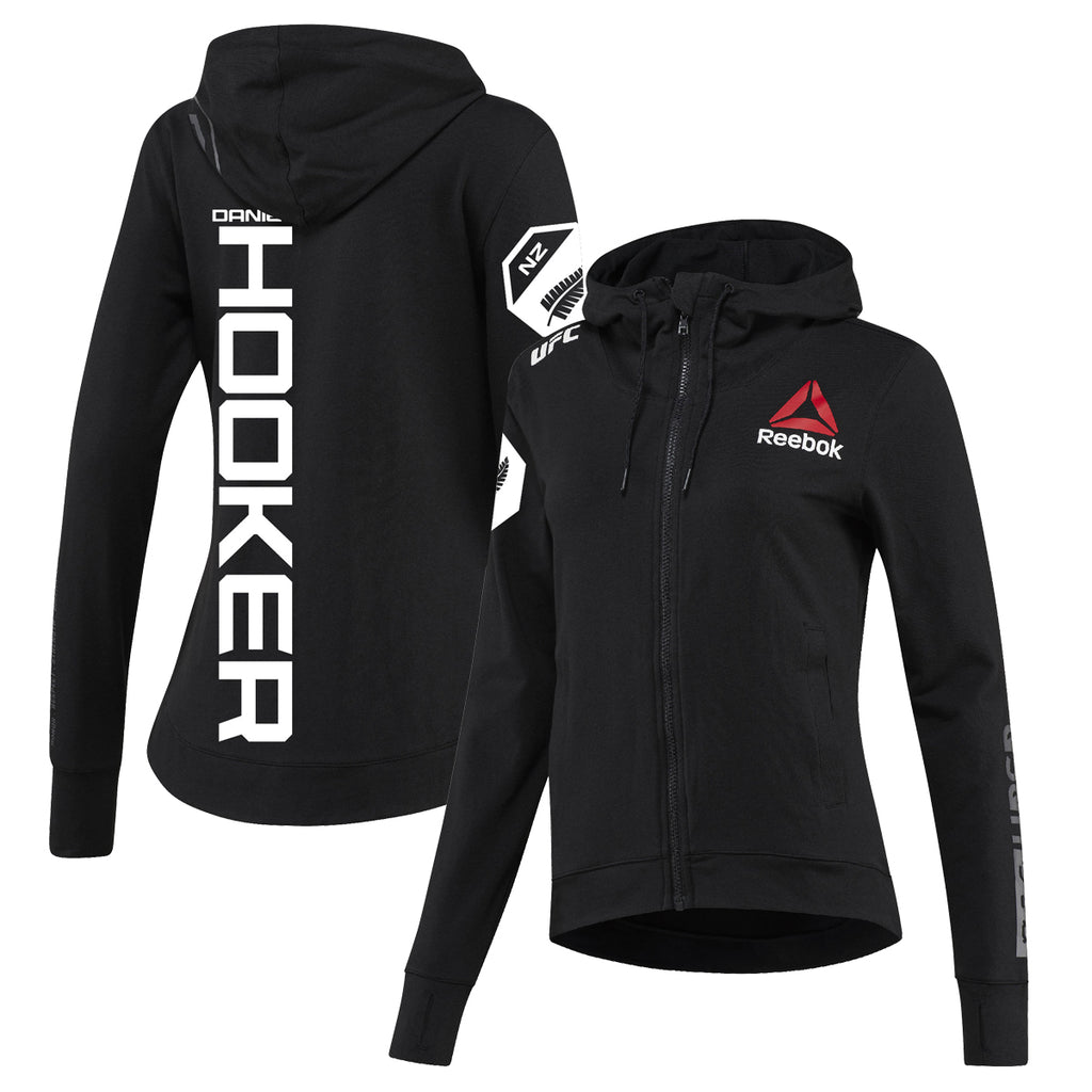 Women's Reebok Dan Hooker Black UFC Fight Night Walkout Hoodie Replica