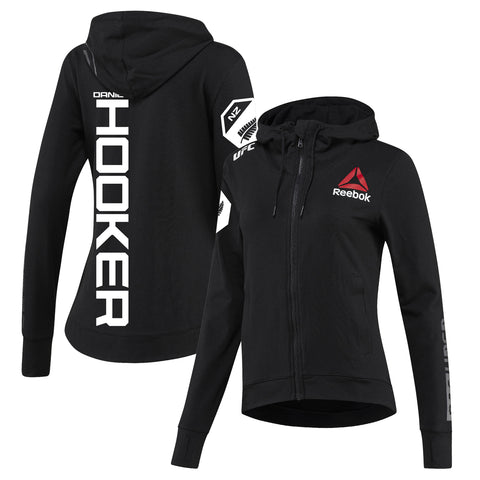 Men's Reebok Dan Hooker Black Authentic UFC Fight Night Walkout Jersey