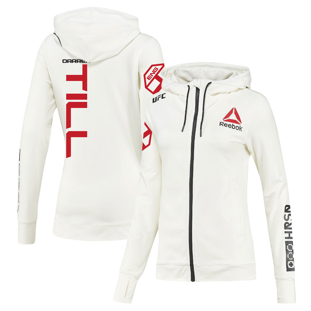Women's Reebok Darren Till Chalk UFC Fight Night Walkout Hoodie Replica