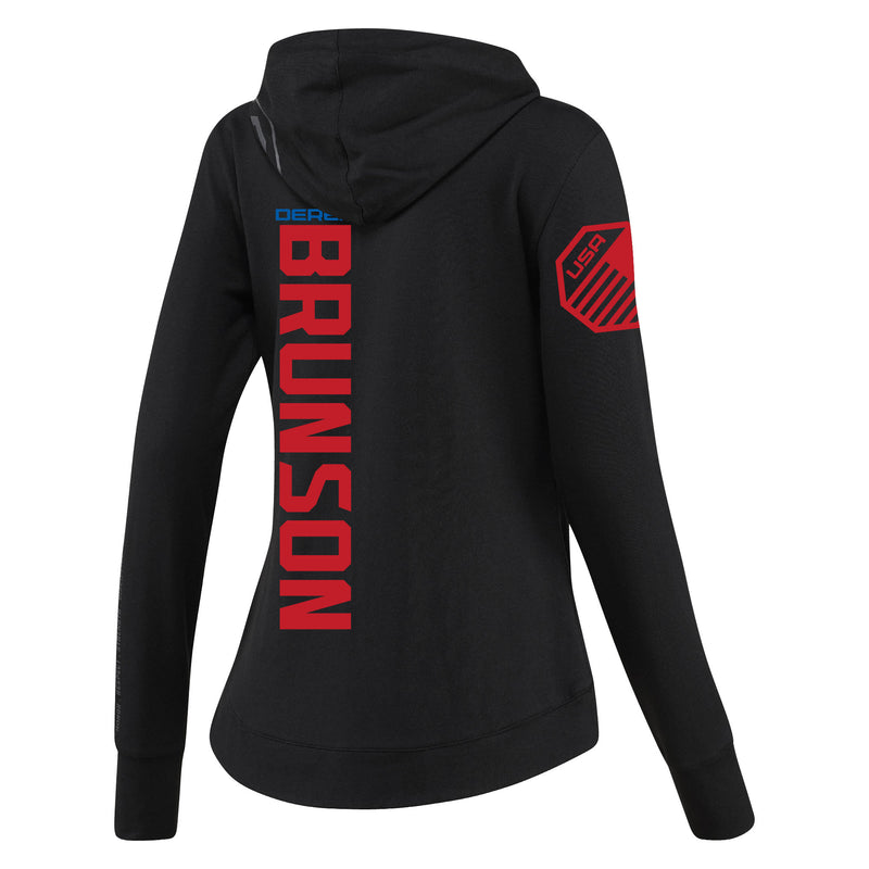 Women's Reebok Derek Brunson Black UFC Fight Night Walkout Hoodie Replica