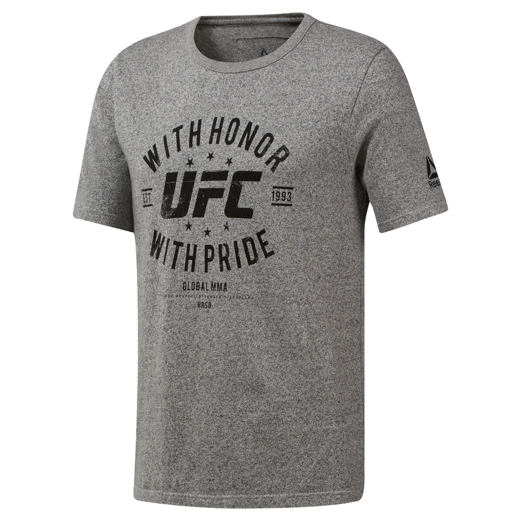 Reebok Grey UFC Fan Gear Honor & Pride T-Shirt -Grey