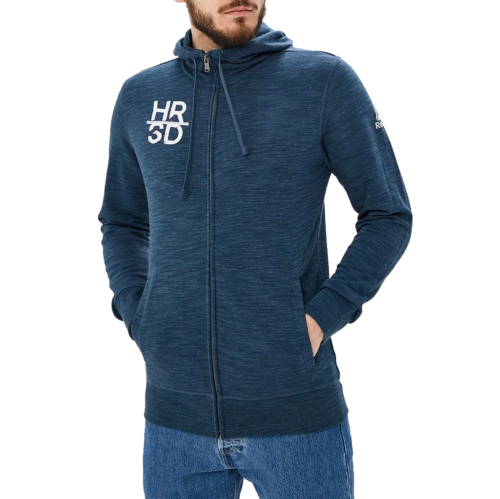 Reebok UFC Fight For More Full Zip Hoodie - Blue