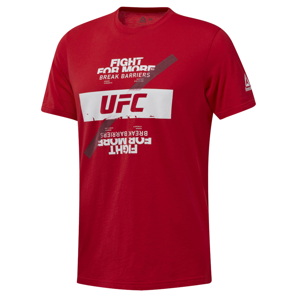 Reebok Red UFC Fan Gear Fight For More T-Shirt