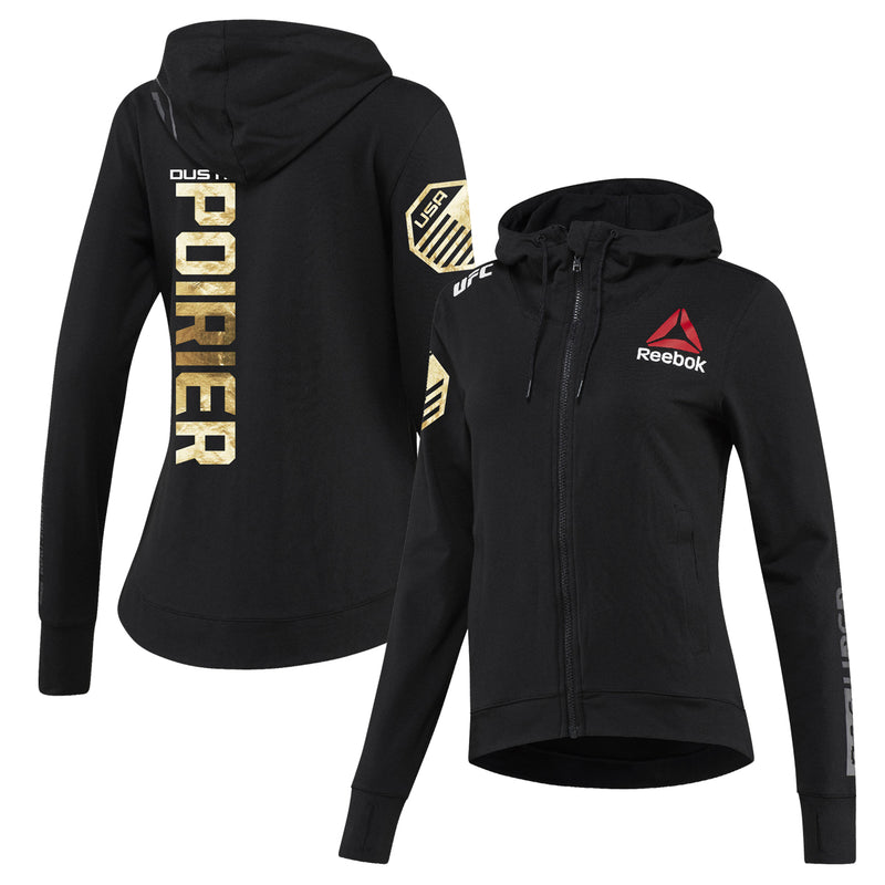 Women's Reebok Dustin Poirier Champion UFC Fight Night Walkout Hoodie Replica